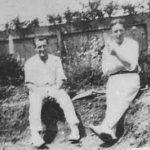 Dr. Bach y Alan Light, hermano de su esposa Kitty (1920).